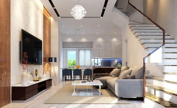 Chiều cao tốt nhất của phòng khách nên ở khoảng 2,8 m đến 3,2 m