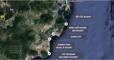 Dự án đổ bộ vào Ninh Thuận