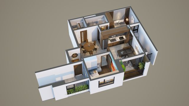 Bonanza 23 Duy Tân - Biến hóa thiết kế cho căn hộ 2 phòng ngủ - 5